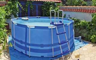 Каркасный бассейн на тротуарной плитке — простое и эстетичное решение