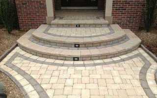 Как выбрать дизайн и сделать крыльцо из тротуарной плитки своими руками