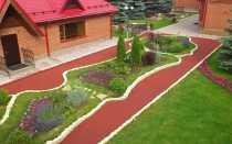 Резиновые рулонные покрытия для садовых дорожек