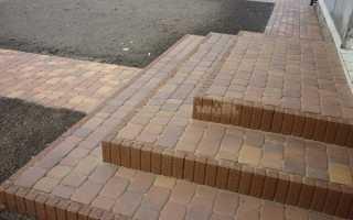Способы укладки ступеней из тротуарной плитки