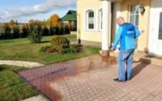Зачем нужен и как использовать гидрофобизатор для тротуарной плитки
