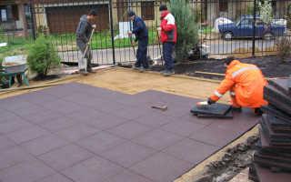 Особенности укладки и сфера применения резиновой тротуарной плитки