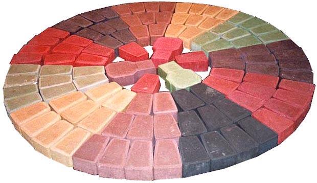 палитра цветов полимерпесчаной тротуарной плитки
