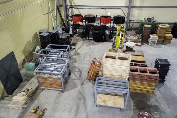 фото производства резиновой плитки
