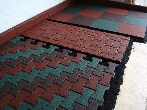 фото резиновой тротуарной плитки