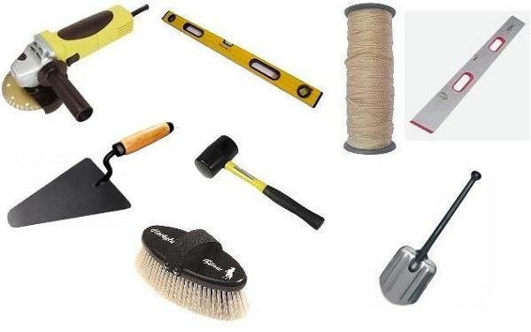 инструменты для укладки камня на дорожку