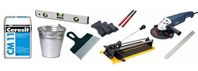 инструменты для укладки тротуарной плитки на крыльцо