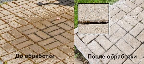 """фото до и после обработки пропиткой """"мокрый эффект"""""""