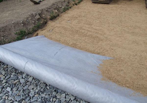 геотекстиль для садовой дорожки