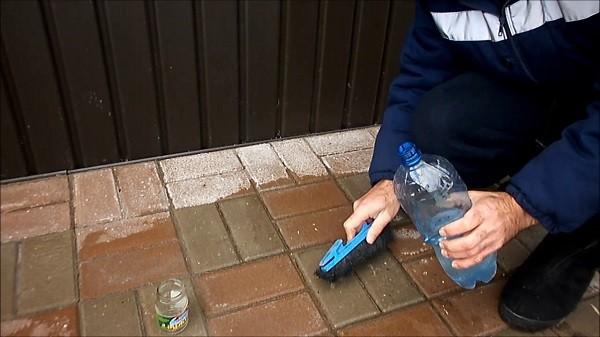 Очистка следов цементного раствора