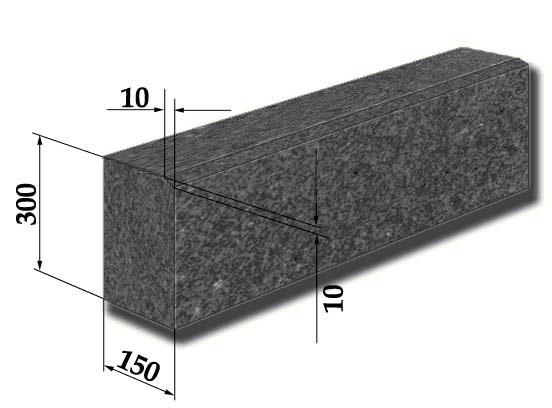 размеры гранитного бордюра 1 гп
