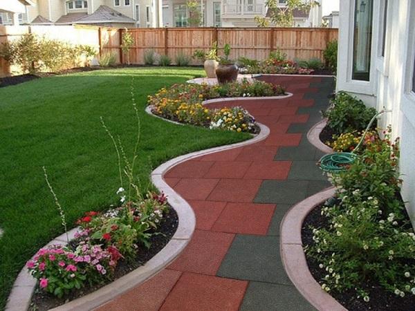 садовая дорожка из резинового покрытия