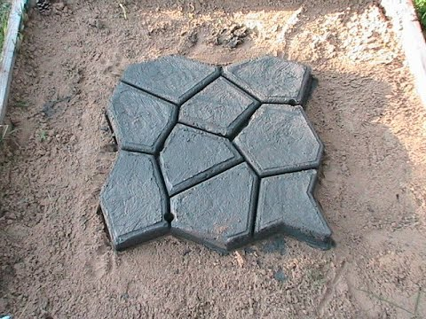 силиконовая форма для тротуарной плитки