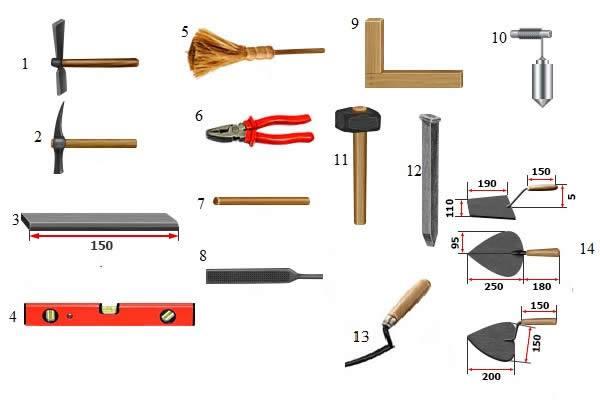 инструмент для кладки искусственного камня