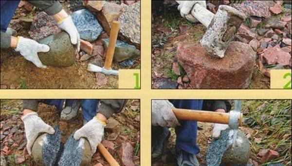 правильная колка камня