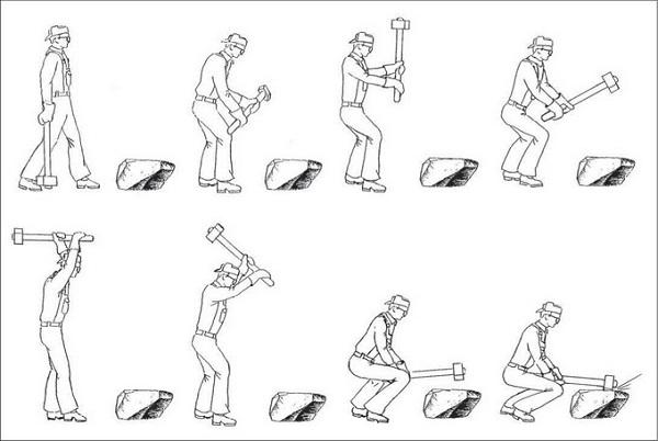 инструкция по раскалыванию камней