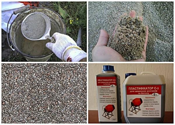 инструменты и материалы для приготовления раствора