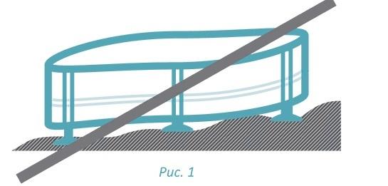 горизонтальная поверхность для бассейна