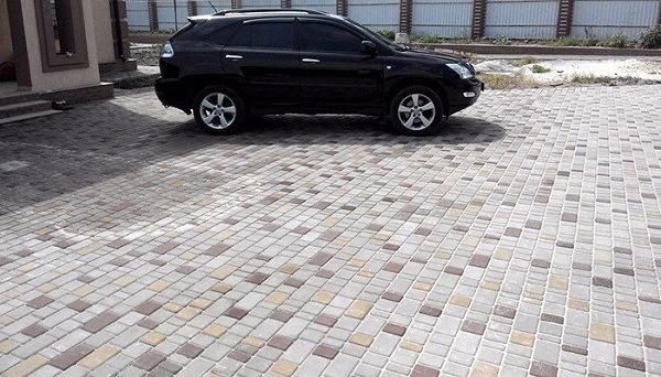 тротуарная плитка старый город для автомобилей